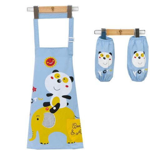 Children's Waterproof Art Smock with Pockets Kids Art Aprons(2 Sleeves+Smock)h,S