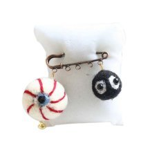 Cute Cartoon Animal Wool Felt Brooch Pin Clothing Accessories, Eyeball
