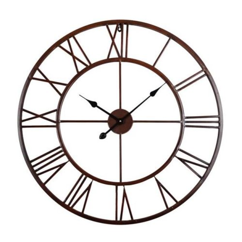 Utopia Alley CL0009RD108 Roman Round Wall Clock, Distressed Finish, Bronze, 24 in.