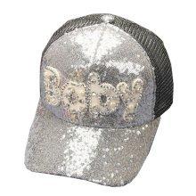 Korean Wave Adult Baseball Cap Hip-Hop Hat Embroidered Adjustable Cap(Silve)