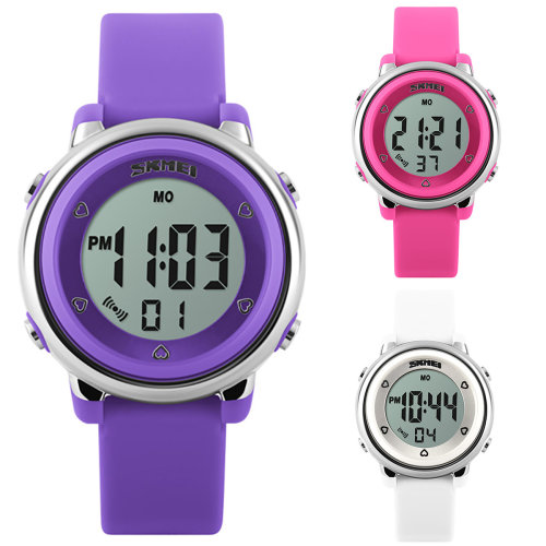 Skmei Girls Digital Watch 50m Water Resistant With Stopwatch Alarm Ages 5+
