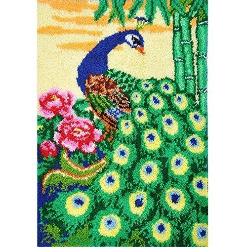 Latch Hook Rug Kit Pea In The Garden 105x75cm