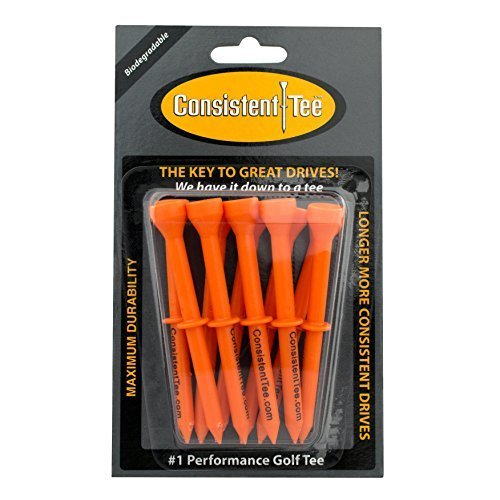 Consistent Tee 3 1 4 Pack of 10 Durable Biodegradable Tees for Perfect Height and Position Orange