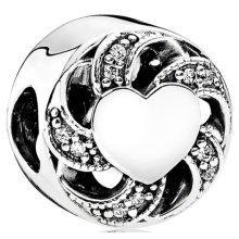 Pandora Ribbon Heart Charm - 791976CZ