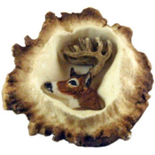 Sierra Lifestyles SL-681354 Deer Burr Cabinet Knob, White Tail Deer