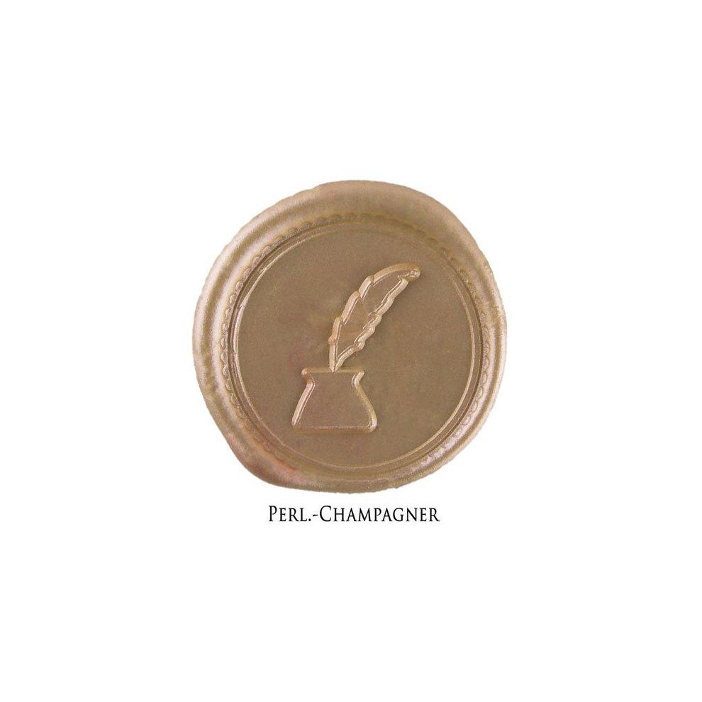 - 6er Pack 7mm flexibles Siegelwachs f/ür Wachspistole Champagner Perl gravurART