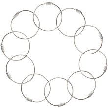 TRIXES Pack of 10 Steel Wire Keychains