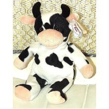 Treasured Pals Moo the Cow Beanie Soft Toy Plush Collectable Animal 1999