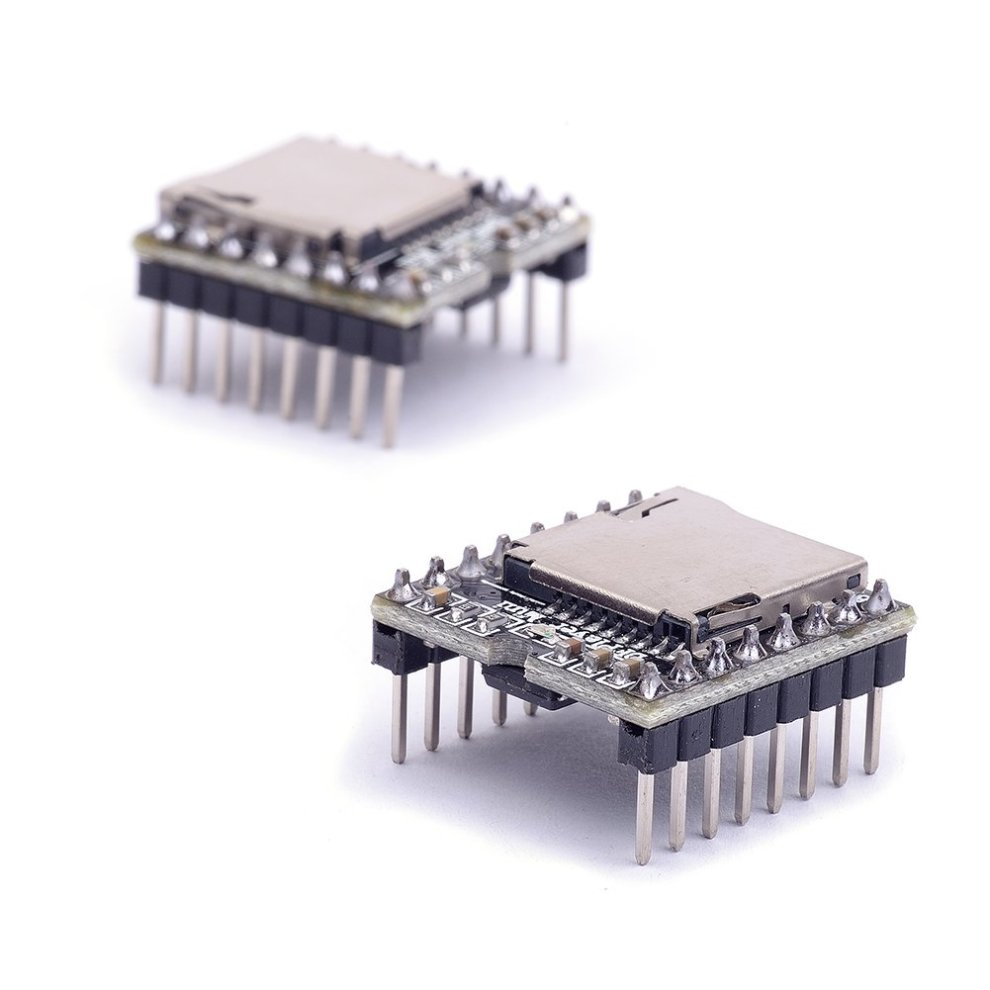 Cylewet 2Pcs DFPlayer Mini MP3 Player Module Support TF Card and U Disk for  Arduino (Pack of 2) CLW1054