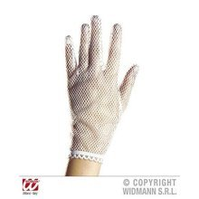 Net White Lace Lycra & Neon Gloves For Fancy Dress Costumes Accessory -  sexy white net gloves nurse french maid fancy dress costume prop