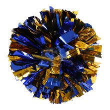 Team Sports Cheerleading Poms Match Pom Plastic Ring Blue+Golden  2PCS