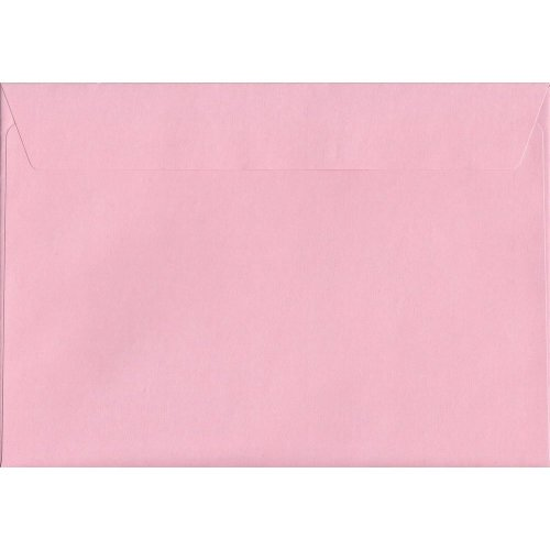 Baby Pink Peel/Seal C5/A5 Coloured Pink Envelopes. 120gsm FSC Sustainable Paper. 162mm x 229mm. Wallet Style Envelope.