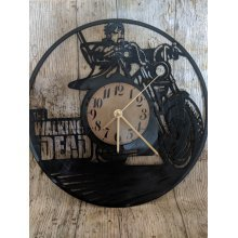 Walking Dead Biker Vinyl Record Clock home decor gift