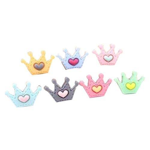 12 Pcs Crown Creative Color Plastic Pushpin Push Pin Thumbtack Office Supplies