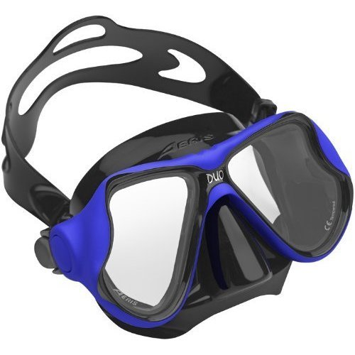 Aeris by Oceanic Duo Scuba Diving Snorkeling Mask with Box BlackBlue