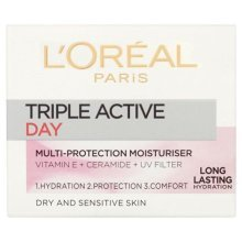 6 x L'Oreal Paris Triple Active Day Multi Protection Moisturiser 50ml