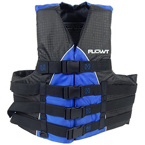 Flowt 40401 2 L Xl Extreme Sport Life Vest Type Iii Pfd Closed Sides Blue Large Extra Large Fits Chest Sizes 40 50