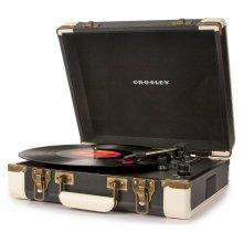 Crosley CR6019A-BK Executive Portable USB Turntable Vinyl Player Belt Driven