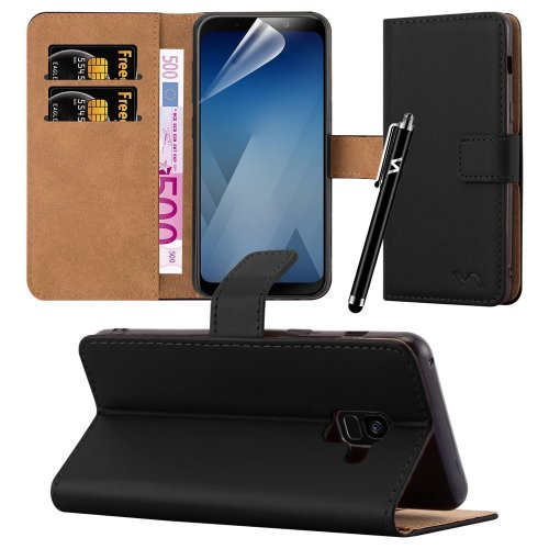 For Galaxy A8 Premium Leather Wallet Case Cover