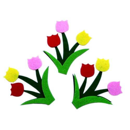 [Tulips] Nursery Wall Decor Material Non-woven Wall Decals 15PCS