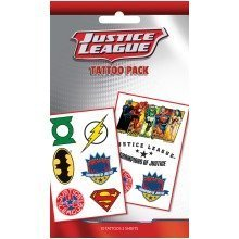 Dc Comics Justice League Mix Tattoo Pack