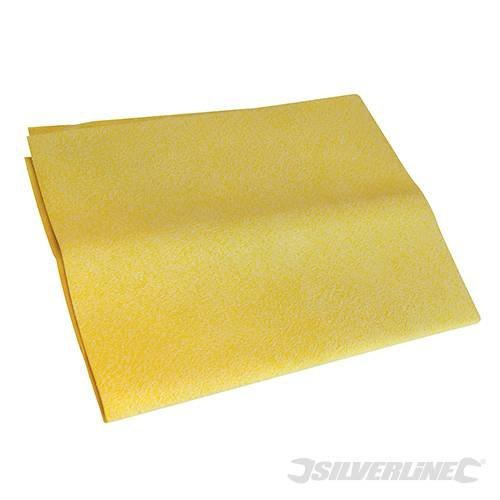 Silverline Synthetic Chamois Cloth 400 x 300mm - 250297 Car -  synthetic chamois cloth x 300mm 400 silverline 250297 car