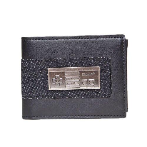 NES Controller Metal Badge Bi-Fold Wallet