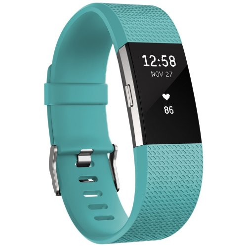Fitbit Charge 2 Activity Tracker with Wrist Based Heart Rate Monitor - Teal/Small