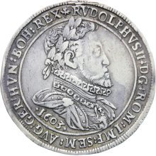 Rare 1603 Holy Roman Empire Rudolph II 1576-1612 Silver Thaler Coin Hall mint