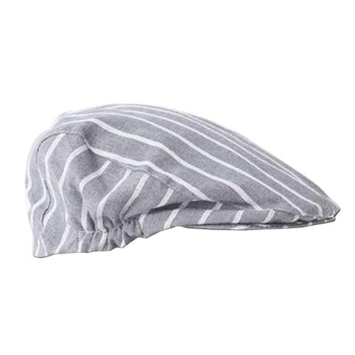 [Gray Stripe] Kitchen Chef Hat Restaurant Waiter Beret Bakery Cafes Beret