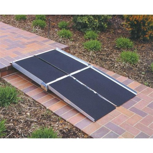 7-ft x 30-in Portable Multifold Wheelchair Ramp 800 lb. Weight Capacity  Maximum 14-in Rise
