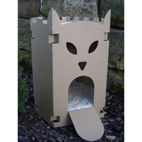 Cat Fortress made from Corrugated Cardboard