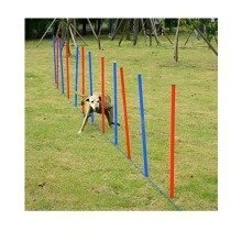 Pawhut Pet Agility Training Equipment Dog Play Run Jump Training Set Adjustable (poles)