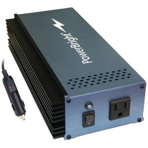 Powerbright APS300U-12 Pure Sine Wave Inverter with Cables, 12V - 300-Watt