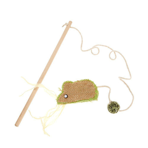 Earthy Pawz Jute Fabric Mouse Cat Teaser Toy