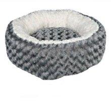 Trixie Kaline Dog Bed, 70cm Diameter, Grey/cream - Bed 70cm Diameter Greycream -  trixie kaline bed dog 70 cm diameter greycream oval dogs various