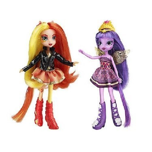 My Little Pony Toy - Equestria Girls Sunset Shimmer and Twilight Sparkle Deluxe Fashion Dolls
