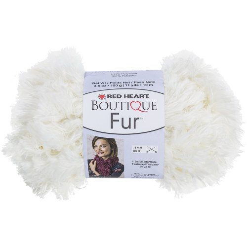 Red Heart Boutique Fur Yarn-Polar