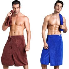 SOFO Bath Wrap Towel with Pocket for Men