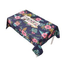 """Cotton Linen Beautiful Tablecloth Tea Table Cover Dust Cover Cloth 33.46""""x33.46"""" (Navy)"""